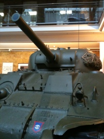 This is the T34, a Russian tank, highly significant in the battles at Stalingrad, the bulge and Berlin.